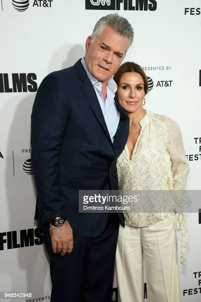 Ray Liotta and Silvia Lombardo attend the Opening Night Gala of 'Love Gilda' 2018 Tribeca Film Festival at Beacon Theatre on April 18 2018 in New...