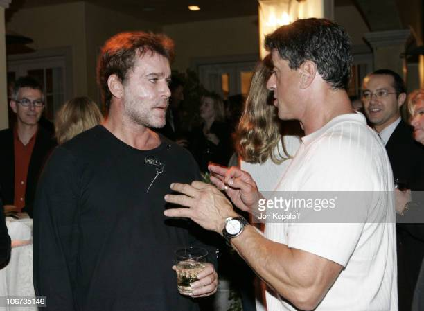 Ray Liotta and Sylvester Stallone during 2004 PreEmmy Party Hosted By Endeavor Agency at Private Residence in Beverly Hills California United States
