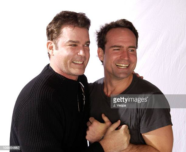 Ray Liotta Jason Patric during 2002 Sundance Film Festival 'Narc' Portraits at Harry O's in Park City Utah United States