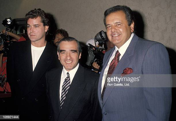 Ray Liotta Martin Scorsese and Paul Sorvino during 'Goodfellas' New York City Premiere at Museum of Modern Art in New York City New York United States