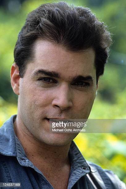 Ray Liotta outside with grin in a scene from the film 'Dominick And Eugene' 1988