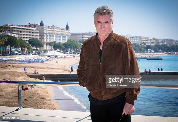 Ray Liotta poses during the 'Texas Rising' photocall at MIPTV on April 13 2015 in Cannes France