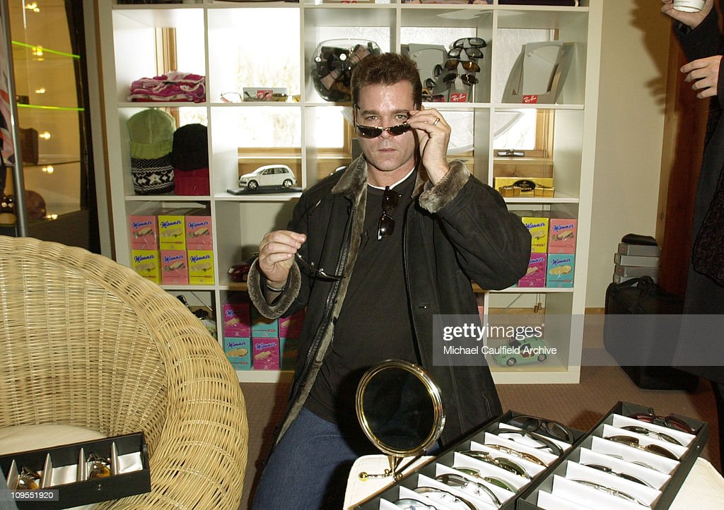 2002  Sundance Film Festival - Ray Liotta and wife Michelle Visit the Chrysler Lodge
