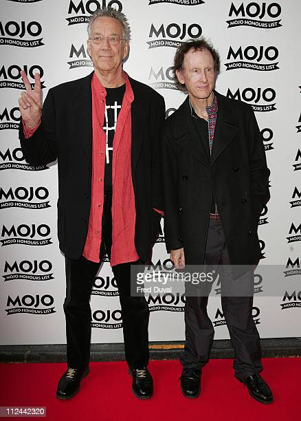 Ray Manzarek and Robby Krieger of The Doors during MOJO Honours List 2007 Arrivals at The Brewery in London Great Britain