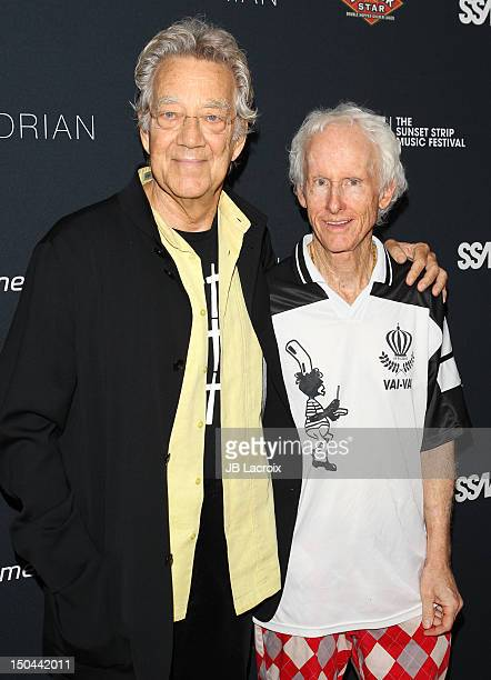 Ray Manzarek and Robby Kriegger attend the VIP Party Of The 5th Annual Sunset Strip Music Festival at SkyBar at the Mondrian Los Angeles on August 17...