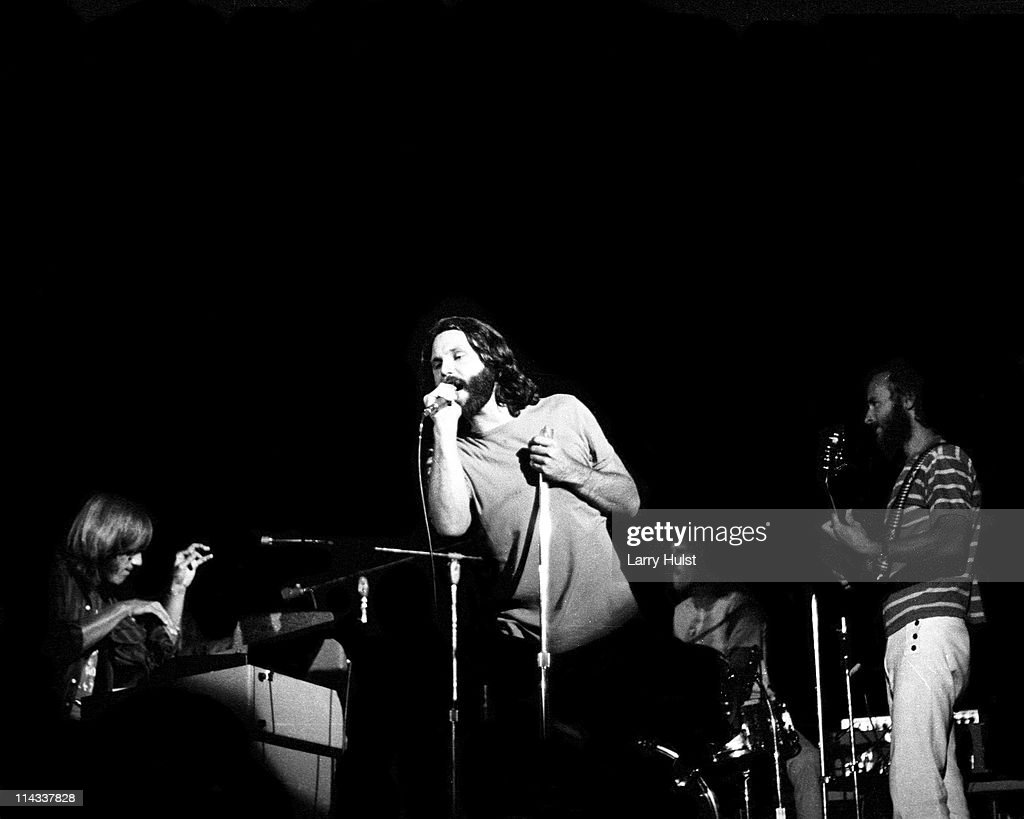 Ray Manzarek, Jim Morrison, Jim Densmore and Robby Krieger The Doors perform at the Sports Arena in San Diego, California on August 22, 1970.