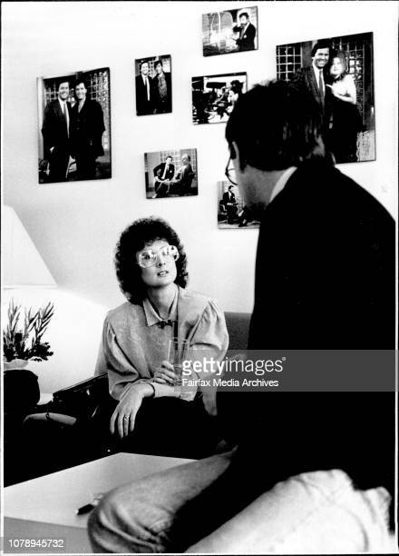 Ray Martin Midday Show Janine Haines with executive Producer of Midday show Paul Melville July 8 1987