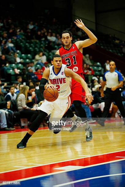 Ray McCallum of the Grand Rapids Drive handles the ball against the Windy City Bulls at The DeltaPlex Arena on December 2 2016 in Grand Rapids...