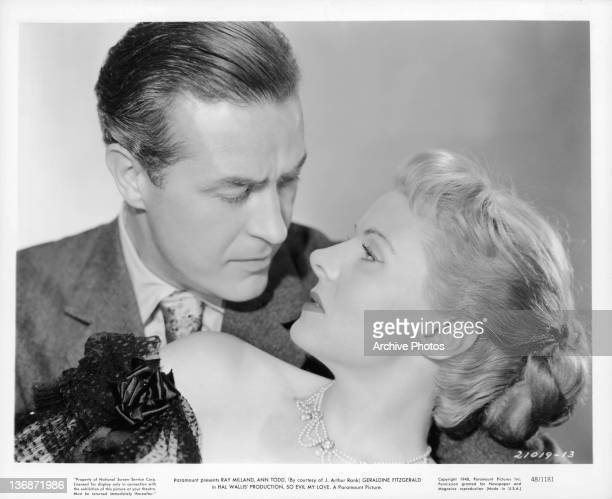 Ray Milland stares into the eyes of Ann Todd in a scene from the film 'So Evil My Love' 1948