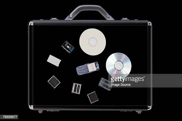 X ray of objects in briefcase