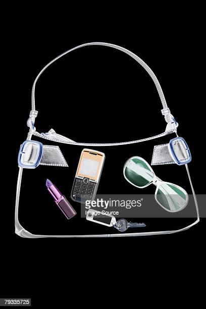 X ray of objects in handbag