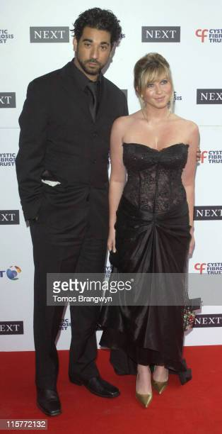 Ray Panthaki and Brooke Kinsella during Cystic Fibrosis Trust Breathing Life Awards Arrivals at Royal Lancaster Hotel in London Great Britain