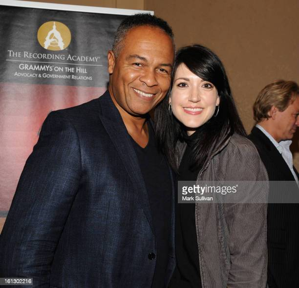 Ray Parker Jr and Beka Tischker during The 55th Annual GRAMMY Awards Congressional Luncheon with guest speaker Congressman Bob Goodlatte at the...