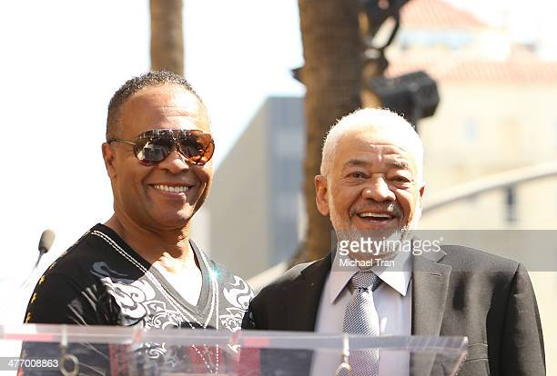 Ray Parker Jr. And Bill Withers attend the ceremony honoring Ray Parker Jr. With a Star on The Hollywood Walk of Fame on March 6, 2014 in Hollywood,...