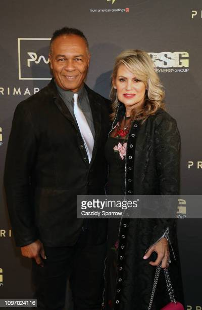Ray Parker Jr and Elaine Parker attend Primary Wave 13th Annual PreGRAMMY Bash at The London West Hollywood on February 9 2019 in West Hollywood...