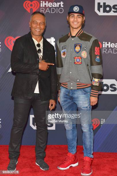 Ray Parker Jr. And Jericho Parker arrive at the 2018 iHeartRadio Music Awards which broadcasted live on TBS, TNT, and truTV at The Forum on March 11,...