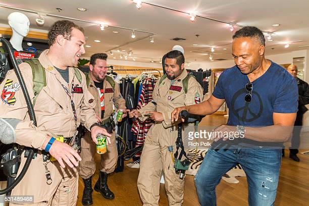 Ray Parker Jr. Dances at an event where Nas with Ron Herman unveil Ghostbusters Fashion Collection on May 14, 2016 in Los Angeles, California.