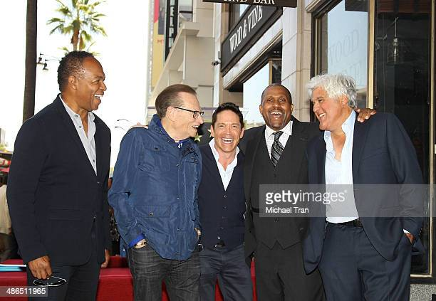 Ray Parker Jr., Larry King, Dave Koz, Tavis Smiley and Jay Leno attend the ceremony honoring Tavis Smiley with a Star on The Hollywood Walk of Fame...