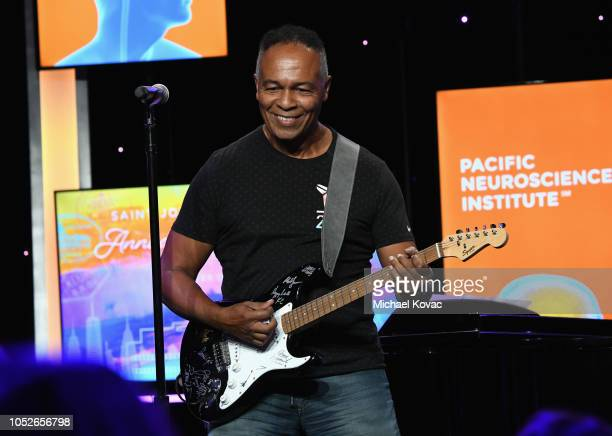 Ray Parker Jr. Performs onstage at the Saint John's Health Center Foundation Gala at The Beverly Hilton Hotel on October 20, 2018 in Beverly Hills,...