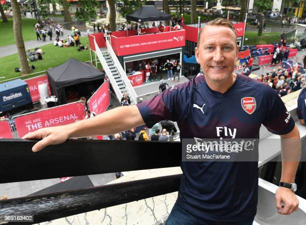 Ray Parlour at the launch of the Arsenal away kit at Leicester Square on June 7, 2018 in London, England.
