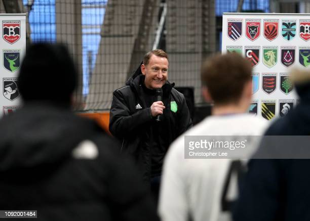 Ray Parlour launches the new Powerleague Nine Elms Club in Battersea on February 01, 2019 in London, England.