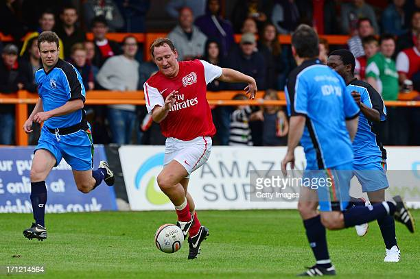 Ray Parlour of Arsenal Legends XI in action during the charity football match between Arsenal Legends XI and World Refugee Internally Displaced...