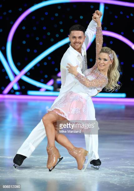 Ray Quinn and Alexandra Schauman during the Dancing On Ice Live UK Tour launch at The SSE Arena Wembley on March 22 2018 in London England