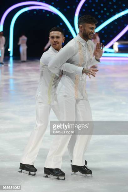 Ray Quinn and Jake Quickenden attend the press launch photocall for the Dancing on Ice Live Tour at Wembley Arena on March 22 2018 in London England...