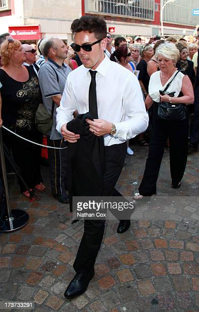 Ray Quinn attends Bernie Nolan's funeral at Grand Theatre on July 17 2013 in Blackpool England