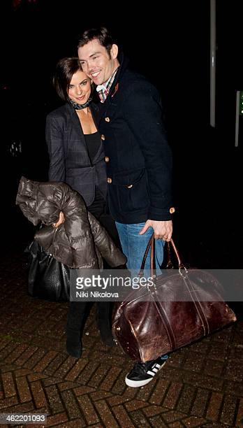 Ray Quinn is sighted arriving at Hotel Borehamwood on January 12 2014 in London England