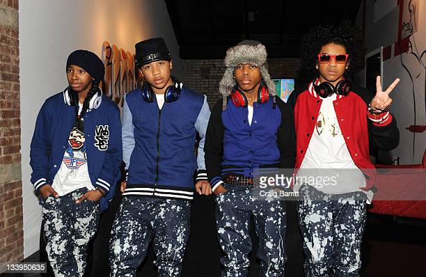 Ray Ray Roc Royal Prodigy and Princeton of the band Mindless Behavior promote their new album #1 Girl at the Beats By Dr Dre PopUp Store on November...