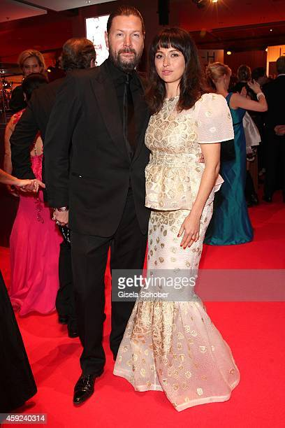 Ray, Rea Garvey and his wife Josephine during the Bambi Awards 2014 on November 13, 2014 in Berlin, Germany.