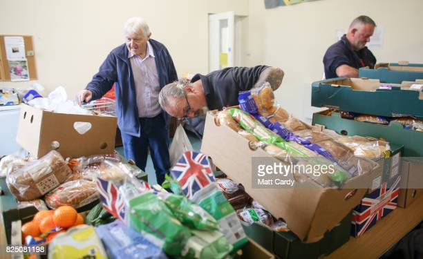Ray Richards from the charity Transformation CPR checks the stores at the foodbank being run at the Camborne Centenary Methodist Church in Camborne...
