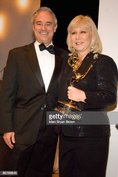 Ray Rodriguez President and COO of Univision Cristina Saralegui of Univision at the 2nd annual Leaders of Spanish Language Television Emmy Awards