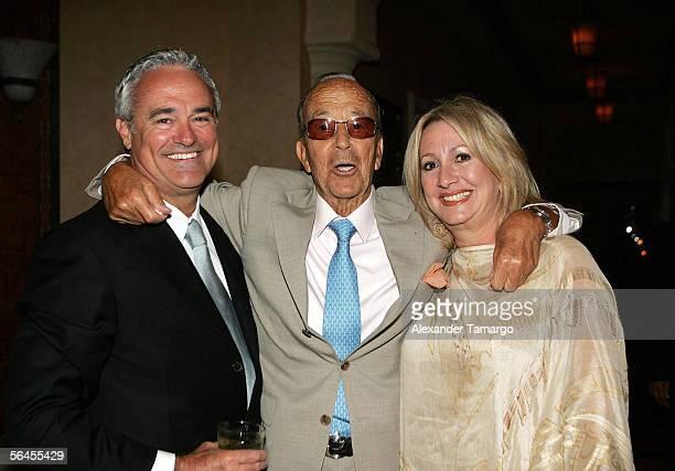 Ray Rodriguez, Univision President, Dr. Julio Iglesias Puga, Liane Rodriguez pose at Carlos Iglesias' 60th birthday celebration on April 30, 2005 at...