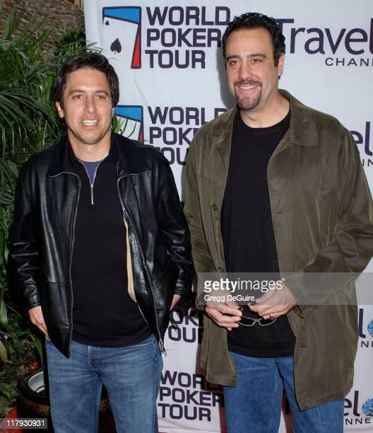 Ray Romano and Brad Garrett during 2005 World Poker Tour Invitational Arrivals at Commerce Casino in City of Commerce California United States