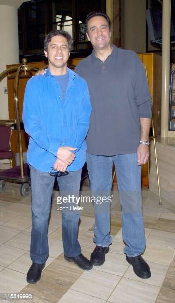 Ray Romano and Brad Garrett during TCACBS Winter 2005 Press Tour at Universal City Hilton in Universal City California United States