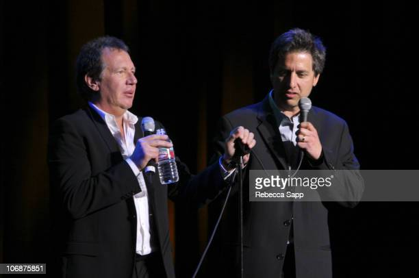 """Ray Romano and Garry Shandling during The Children Affected by AIDS Foundation Presents """"Night of Comedy IV"""" Fundraising Event at Wilshire Theatre in..."""