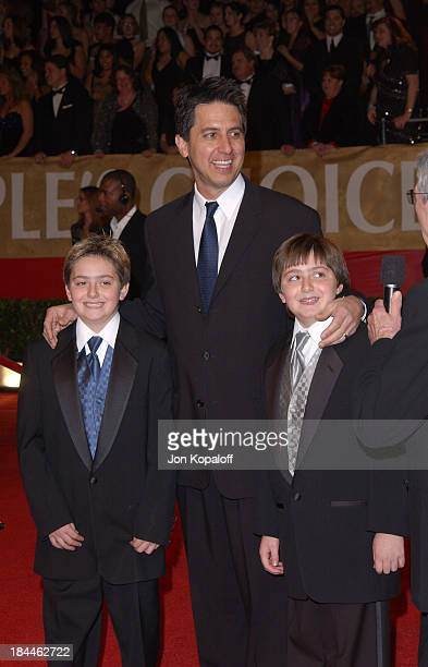 Ray Romano and his twins Matthew and Gregory during The 30th Annual People's Choice Awards Arrivals at Pasadena Civic Auditorium in Pasadena...