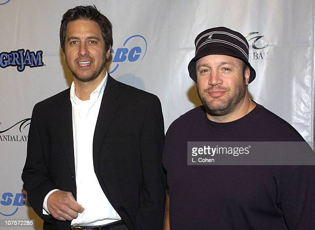 Ray Romano and Kevin James during Tiger Jam VII Red Carpet Arrivals at Mandalay Bay Events Center in Las Vegas Nevada