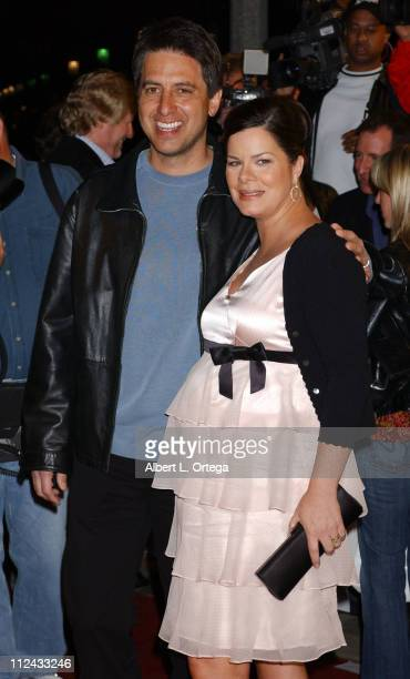 Ray Romano and Marcia Gay Harden during Premiere 'Welcome To Mooseport' Arrivals at Mann's Village Theater in Westwood California United States