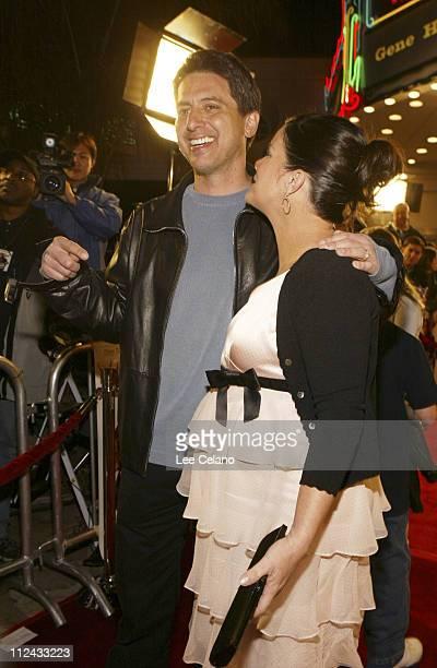 Ray Romano and Marcia Gay Harden during World Premiere of 'Welcome to Mooseport' Red Carpet at Fox Westwood Village Theatre in Westwood California...