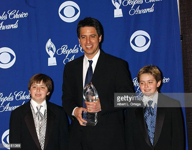 Ray Romano and sons Gregory and Matthew during The 30th Annual People's Choice Awards Press Room at Pasadena Civic Auditorium in Pasadena California...