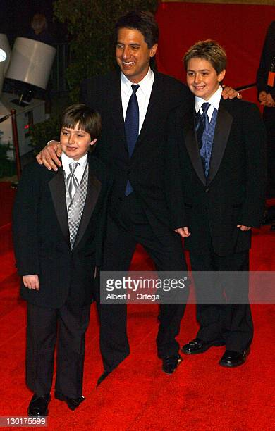 Ray Romano and twin sons Matthew and Gregory during The 30th Annual People's Choice Awards Arrivals at Pasadena Civic Auditorium in Pasadena...