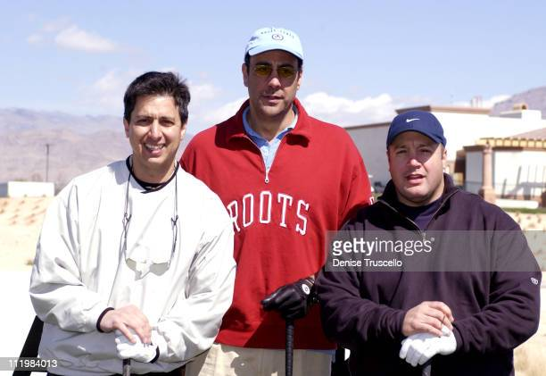 Ray Romano Brad Garrett and Kevin James during Las Vegas Celebrity Classic Golf TournamentTee Off at Silverstone Golf Club in Las Vegas Nevada United...