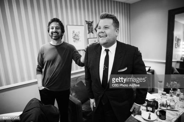 Ray Romano chats in the green room with James Corden during 'The Late Late Show with James Corden' Thursday August 17 2017 On The CBS Television...