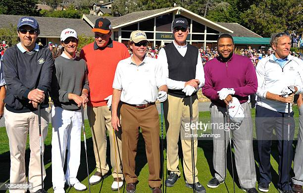 Ray Romano Kenny G Chris Berman Clay Walker Craig T Nelson Anthony Anderson and Michael Bolton participate in the ATT Pebble Beach National ProAm at...