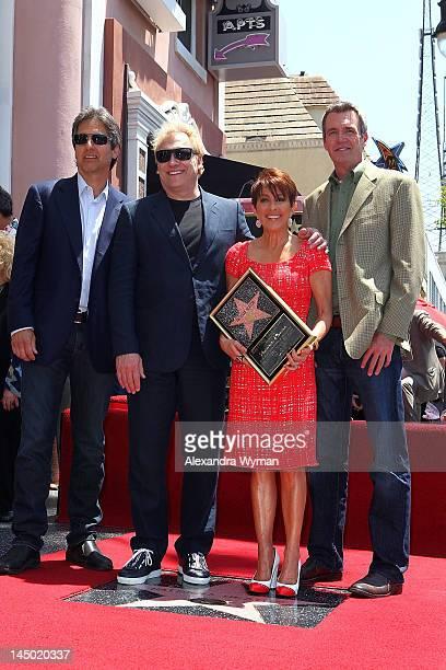 Ray Romano, Producer/actor David Hunt, Patricia Heaton, and Neil Flynn at Patricia Heaton's Star Ceremony on The Hollywood Walk Of Fame on May 22,...