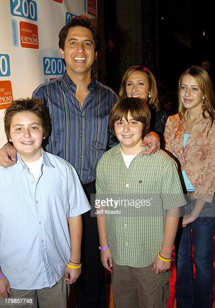 Ray Romano sons Matthew Romano and Gregory Romano wife Anna Scarpulla and daughter Alexandra Romano