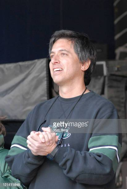 Ray Romano standing in the Jets tunnel as the National Anthem was being sung during the Jets' 2611 win over the Houston Texans at the Meadowlands...